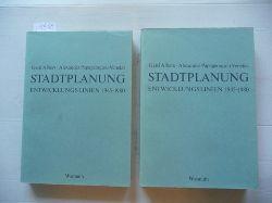 Albers, Gerd - Papageorgiou-Venetas, Alexander  Stadtplanung : Entwicklungslinien 1945-1980 Bde. 1 + 2 (2 BÜCHER)