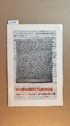 Altevogt, Heinrich  Gymnasium Paulinum: Bericht über die Eeinweihungsfeierlichkeiten 1959