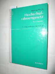 Reich, Andreas  Hochschulrahmengesetz : Kommentar
