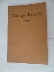 Diverse  Thüringer Kalender 1917