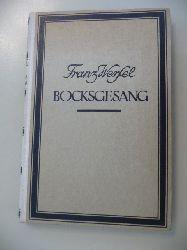 Werfel, Franz  Bocksgesang In Fünf Akten