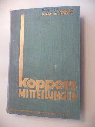 Firma Heinrich Koppers (Hg.)  Koppers Mitteilungen - 8. Jahrgang 1926 und 9.Jahrgang 1927