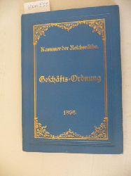 Diverse  Geschäfts-Ordnung der Kammer der Reichsräthe des Königreichs Bayern 1896