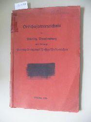 Reichspostdirektion Potsdam (Hrsg.)  Ortschaftsverzeichnis der Provinz Brandenburg mit Anhang Provinz Grenzmark Posen-Westpreußen.