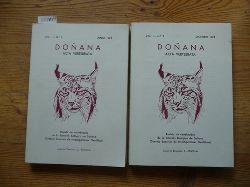 Valverde J.A.  Doñana. Acta Vertebrata. Revista de Vertebrados de la Estación biológica de Doñana (Consejo Superior de Investigaciones Científicas) : Vol. I. No.1 Junio, 1974 + No.2 Diciembre 1974 (2 BÜCHER)