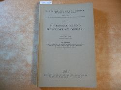 Mügge, Ratje (Hrsg.)  Meteorologie und Physik der Atmosphäre (=Naturforschung und Medizin in Deutschland 1930-1946.=FIAT Band 19)