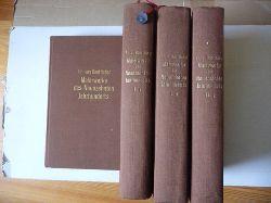 Boetticher, Friedrich von  Malerwerke des neunzehnten Jahrhunderts. Beitrag zur Kunstgeschichte. Band.1,1.+1,2+2,1+2,2 (4 BÜCHER)