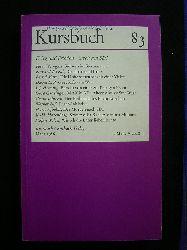 Michel, Karl Markus, Tilmann Spengler (Hrsg.) und Hans Markus Enzensberger (Mitarb.).  Kursbuch 83. Krieg und Frieden - Streit um SDI. März 1986.
