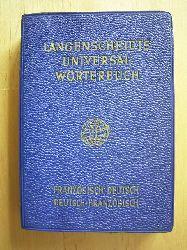 Langenscheidt Universal-Wörterbuch Französisch. Teil I: Französisch - Deutsch. Teil II: Deutsch - Französisch.