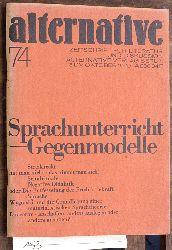 Brenner, Hildegard.  Alternative Nr. 74. Sprachunterricht - Gegenmodelle