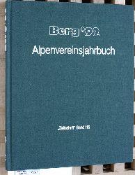 """Baumgartner, Peter (Red.).  Berg ` 92 - Alpenvereinsjahrbuch """"Zeitschrift"""" Band 116."""