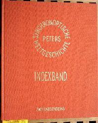 Peters, Arno.  Synchronoptische Weltgeschichte. Indexband. Mehrteiliges Werk