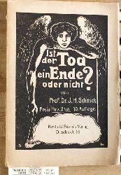 Schmick, I. H.  Ist der Tod ein Ende oder nicht? Gespräche über das Erdenleben und die Menschennatur.