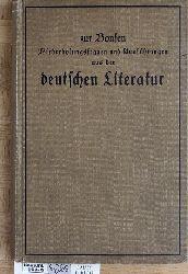 Bonsen, Fr. zur.  Wiederholungsfragen und Ausführungen aus der deutschen Literatur in drei Teilen. 1 Buch.