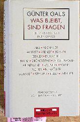Gaus, Günter.  Was bleibt, sind Fragen : die klassischen Interviews. Hrsg. von Hans-Dieter Schütt
