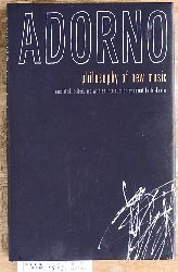 Adorno, Theodor W.  Philosophy of New Music Translated, edited, and with an Introduction by Robert Hullot-Kentor