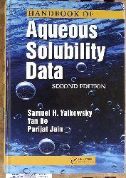 Yalkowsky, Samuel H., Yan He and Parijat Jain.  Handbook of Aqueous Solubility Data. Second Edition