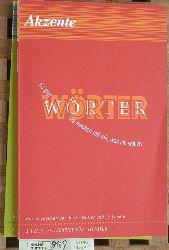 Lendle, Jo [Hrsg.].  Akzente 3 + 4. 2015. Wörter / Witz. 2 Hefte. Zeitschrift für Literatur