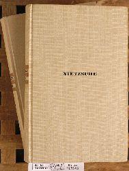 Messer, August.  Friedrich Nietzsche Werke in zwei Bänden. Band 1 + 2 Ausgesucht und eingeleitet von ...