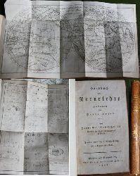 Kupferstichkarte : Die beyden Halbkugeln der Erde 1803 - Schmidt, Georg Gottlieb Schmidt: Handbuch der Naturlehre zum Gebrauch für Vorlesungen... Zweite und letzte Abtheilung (apart)  Mit 2 Kupfern und einer Karte. 1805