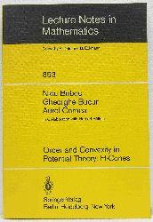 Boboc, Nicu & Bucur, Gheorghe & Cornea, Aurel:   Order and Convexity in Potential Theory: H-Cones.