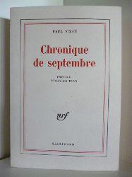 Nizan, Paul  Chronique de Septembre (französischsprachig)