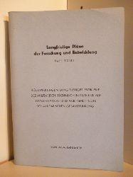 Dr. A. Baeumker  Langfristige Pläne der Forschung und Entwicklung. Heft XXIII.
