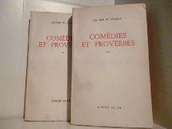 Alfred de Musset  Comedies et Proverbers Tom 1 und 2. (französischsprachig)