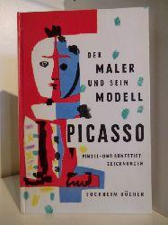 Picasso, Pablo  Der Maler und sein Modell. Pinsel- und Buntstiftzeichnungen