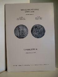Auktionskatalog:  Münzenhandlung Udo Gans. Lagerliste 46. 1997