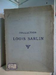 Me. Charles Dubourg, Me. F. Lair-Dubreuil und andere  Catalogue des Tableaux Modernes. Aquarelles et Dessins. Collection Louis Sarlin. Le Samedi 2 Mars 1918