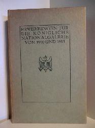 Ausgestellt in der Königlichen Akademie der Künste zu Berlin 24. September bis 18. Okrober 1911  Amtliche Veröffentlichung der Königlichen Nationalgalerie zu Berlin. Erwerbungen für die Königliche Nationalgalerie von 1910 und 1911