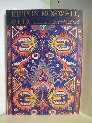 Auktionator: Detlef Maltzahn  Rippon Boswell & Co. Jubiläumsauktion-Auktion. Bedeutende Antike und seltene alte Teppiche, Flachgewebe und Textilien. Versteigerung am 11. Mai 1996