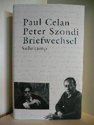 Herausgegeben von Christoph König :  Paul Celan, Peter Szondi. Briefwechsel