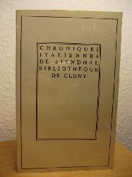 Stendhal (Henri Beyle) ; Texte etabli et presentee par Michel Crouzet  Chroniques Italiennes (französischsprachig)