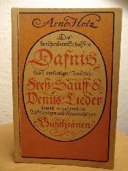 Holz, Arno  Dafnis. Lyrisches Porträt aus dem 17. Jahrhundert