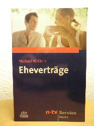 Klein, Michael W.  Eheverträge