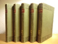 Grillparzer, Franz - herausgegeben von Rudolf Franz  Grillparzers Werke. Kritisch durchgesehene und erläuterte Ausgabe in fünf Bänden (vollständig)