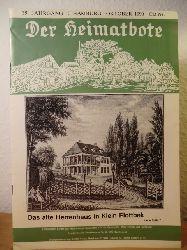 Hachmann, Rolf (Redaktion):  Der Heimatbote. Mitteilungsblatt des Bürger- und Heimatvereins Nienstedten e.V. für Nienstedten, Klein Flottbek und Hochkamp - 39. Jahrgang, 10, Oktober 1990
