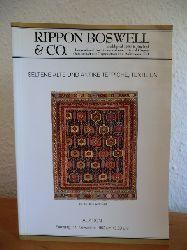 Auktionshaus Rippon Boswell & Co.:  Grosse Herbst-Auktion: Bedeutende antike und seltene alte Teppiche, Flachgewebe und Textilien, Teppichliteratur. Auktion am 14. November 1992