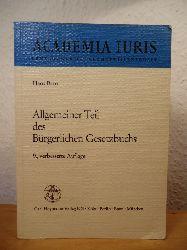 Brox, Dr. Hans  Allgemeiner Teil des Bürgerlichen Gesetzbuchs (Gesetzbuches)