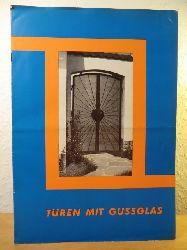 """Agentur für Gußglas GmbH, Düsseldorf, """"Haus der Glasindusrie""""  Türen mit Gussglas"""
