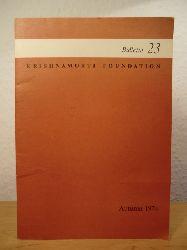 Krishnamurti Foundation  Bulletin Number 23, Autumn 1974
