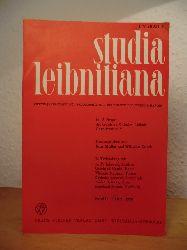 Müller, Kurt und Wilhelm Totok (Hrsg.) - im Auftrage der Gottfried-Wilhelm-Leibniz-Gesellschaft e.V.:  Studia Leibnitiana. Vierteljahrschrift für Philosophie und Geschichte der Wissenschaften. Band II, Heft 2, 1970