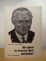 Weichmann, Bürgermeister Prof. Dr. Herbert:  Wir haben zu unserem Wort gestanden! Rede zum Haushaltsplan 1968 vor der Bürgerschaft am 6. Dezember 1967