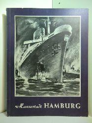 Schulze, Adolf (verantwortlich für den Inhalt):  Freie und Hansestadt Hamburg (Deutschland - mehrsprachige illustrierte Zeitschrift für Wirtschaft, Aufbau und Kultur, Nummer 2, XXIII. Jahrgang)