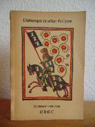 Aue, Hartmann von - in Ausw. hrsg. v. Wolfgang Baumgart:  Erec