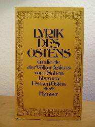 Gundert, Wilhelm, Annemarie Schimmel und Walther Schubring (Hrsg.):  Lyrik des Ostens. Gedichte der Völker Asiens vom Nahen bis zum Fernen Osten