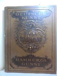 Albrecht, C., Justus Brinkmann und  weitere (Comité):  Deutsche Kunst zu Hamburgs Gunst. Deutsches Künster- und Schriftsteller-Album herausgegeben zum Besten der Notleidenden in Hamburg und Altona