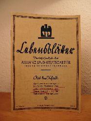 Pastor, Eilert (verantwortlich für den Gesamtinhalt):  Lebensblätter. Vierteljahresschrift der Allianz und Stuttgarter Lebensversicherungsbank. Heft 35, September 1937